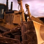 Dozers and Tracked Machines with a sunset
