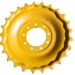 yellow chain sprocket